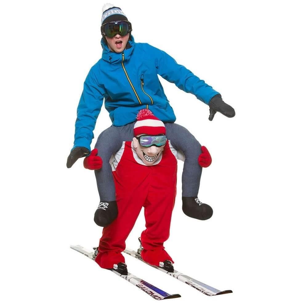 Skifahrer Huckepack Kostüm