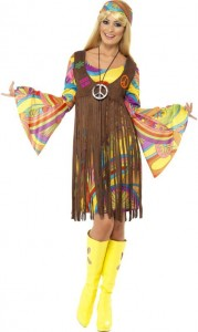 Hippie Lady Kostuem 70er Woodstock