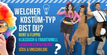 Kostüm-Test: Finde heraus welches Kostüm zu dir passt!