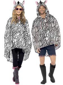 Mann und Frau im Zebra Poncho