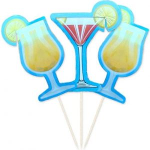 Cocktaildekoration in Form von Cocktailgläsern