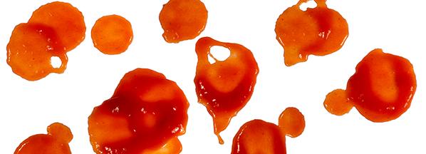 Ketchupflecken