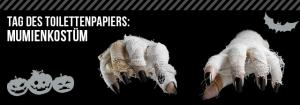 Hände eines Mumienkostüms