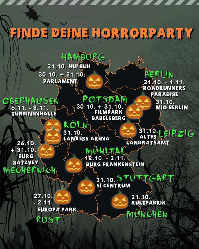Infografik Halloween Partys in Deutschland