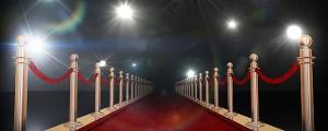 Roter Teppich und Blitzlichtgewitter