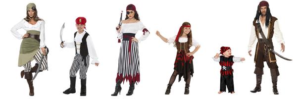Familienkostüm Pirat Kostuem
