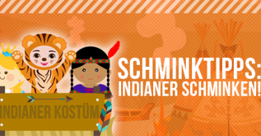 Indianer schminken leicht gemacht mit unserem Tutorial.