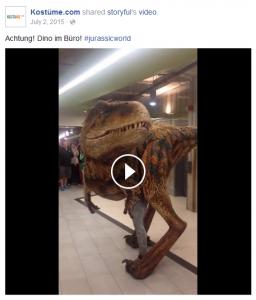 Dino im Büro