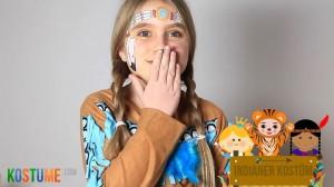 Indianer Kostüm und Schminke