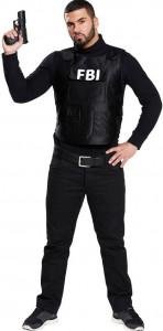 Mann im FBI Kostüm