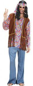 Mann im Hippie Kostüm