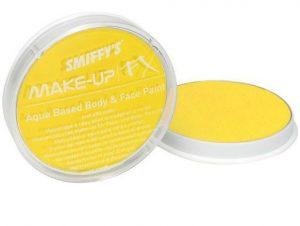 Gelbe Schminke für Gesicht und Körper