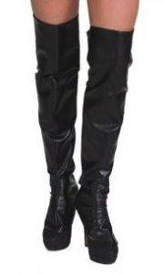 Schwarze Stiefelstulpen
