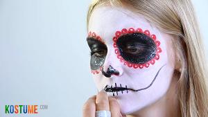 Sugar Skull schminken - Mundpartie
