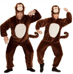 Affenkostüm als Overall mit Maske
