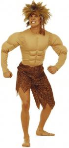 Tarzan Kostüm Overall mit Perücke