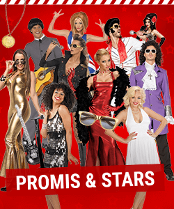 Personen verkleidet als Promis und Stars