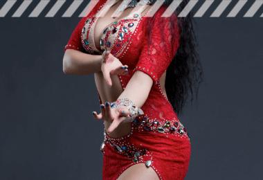 1001 Nacht Kostüme - verführerische Bauchtänzerin in rot