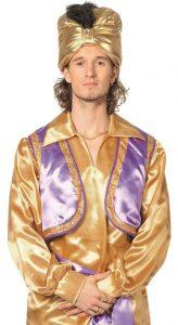 Orientalisches Aladdin Hemd gold - 1001 Nacht Kostüm