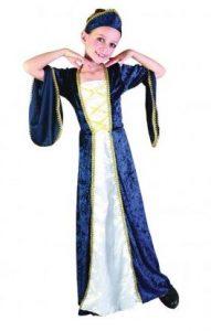 Mittelalter Gewandung - Mittelalter Prinzessin Kinderkostüm blau