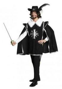 Mittelalter Gewandung - Musketier Umhang Kostüm für Herren