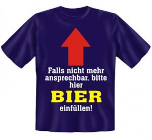 blaues Bier T-Shirt für Herren