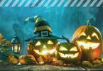 Halloween Kürbis schnitzen - drei gruselige Kürbise