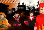 süße Halloween Kostüme - Pumbkin, Vmapir, Teufelchen & schwarze Katze