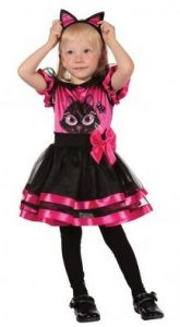 Mini Pink Kitty Halloweenkostüm