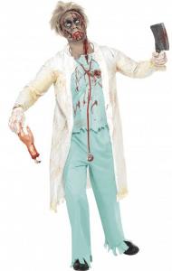 Dr Death Zombie Doktor Kostüm blutverschmiert