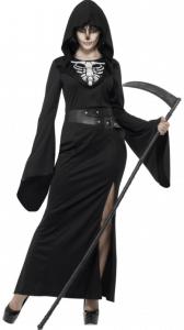 Horror Reaper Lady Damenkostüm mit Sense