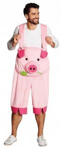 Mann im schweine latzhose unisex kostüm