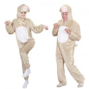 warme Kostüme - Lamm Plüschkostüm