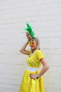 Ananas Kostüm selber machen