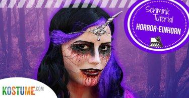 Horror Einhorn DIY Kostüm
