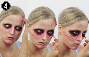 Halloween Make-up Tutorial Einhorn Step 4