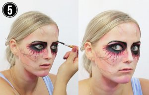 Halloween Make-up Tutorial Einhorn Step 5
