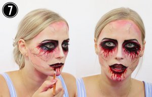Halloween Make-up Tutorial Einhorn Step 7