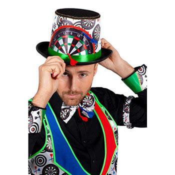 lustige Dart Kostüme - Darts Zylinder
