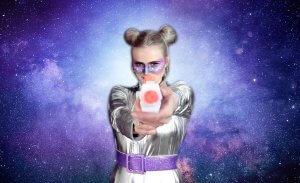 Space Girl Kostüm - Endbild