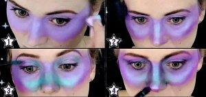 Space Girl Kostüm - MakeUp Steps 1-4
