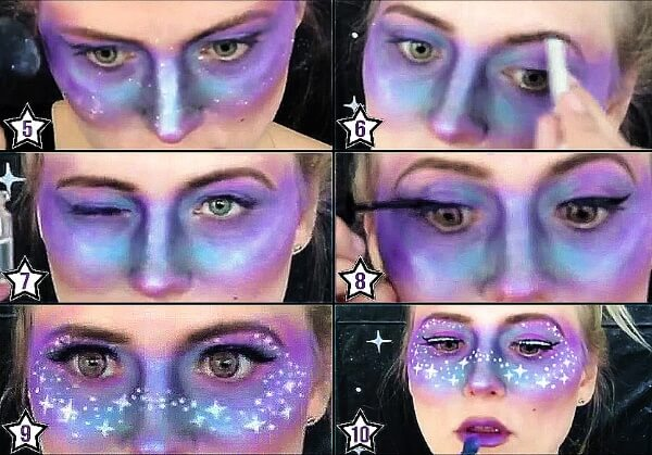 Space Girl Kostüm - Makeup Steps 5-10