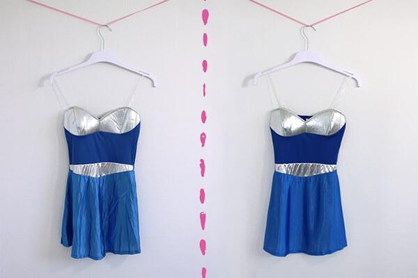 Kostüme bügeln - Vorher Nachher