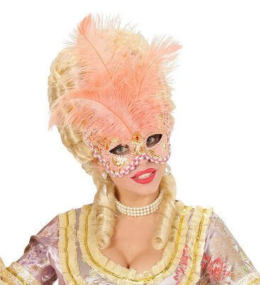 federmaske apricot karneval ball venedig