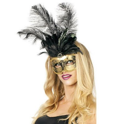 schwarze Maske Maskenball Karneval
