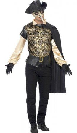 goldenes Kostüm Herren Ball Venedig