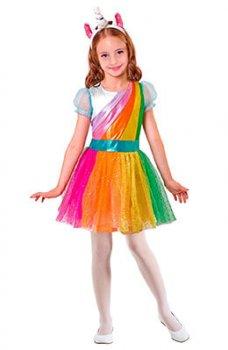 Buntes Einhorn Kostüm für Kinder
