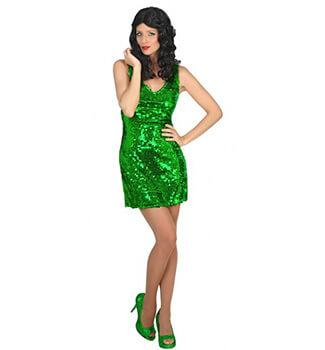 Cordula Grün Kostüm - Paillettenkleid