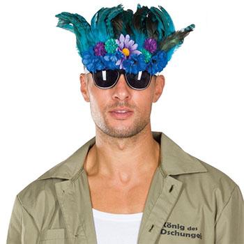 Dschungelcamp Kostüme - Dschungelkönig Brille