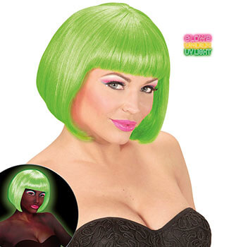 Glamour Cordula Grün Kostüm - Neon Perücke